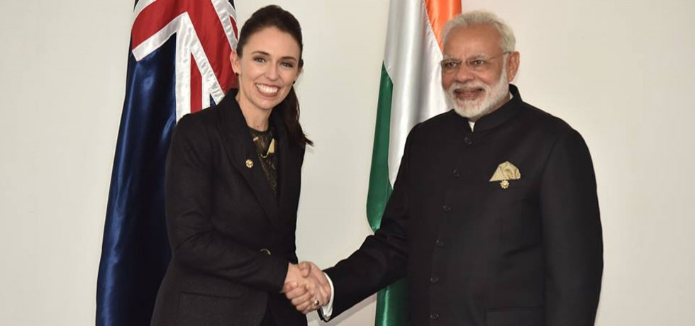 Hon. PM Shri Narendra Modi with Rt. Hon. Ms. Jacinda Ardern, PM of New Zealand on the sidelines of 13th East Asia summit in Singapore from 14-15 November, 2018