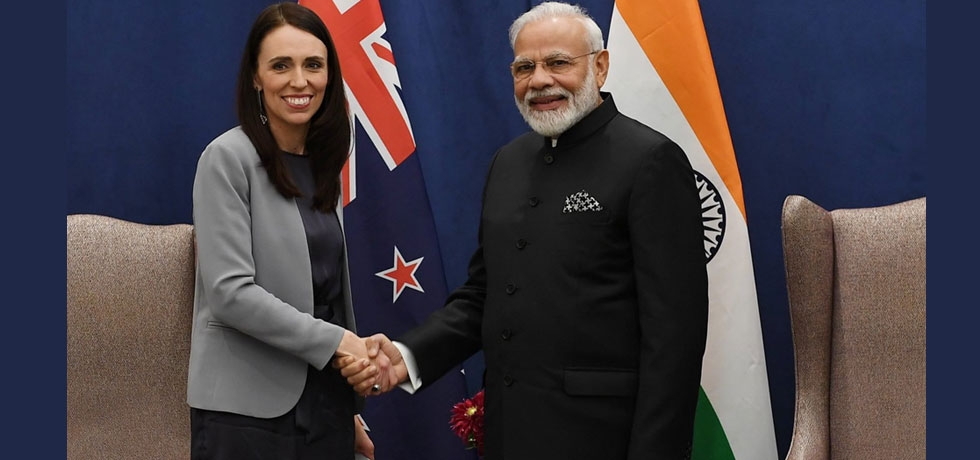 Hon. PM Shri Narendra Modi with Rt. Hon. Ms. Jacinda Ardern, PM of New Zealand during bilateral meeting on the sidelines of UNGA summit in New York on 25 September, 2019