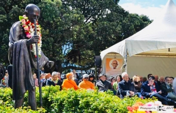 Celebrations of 150th Anniversary of Mahatma Gandhi on 2 October 2019 in New Zealand