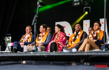 Celebration of Auckland Diwali Festival 2019 in Aotea Square on 12 October 2019