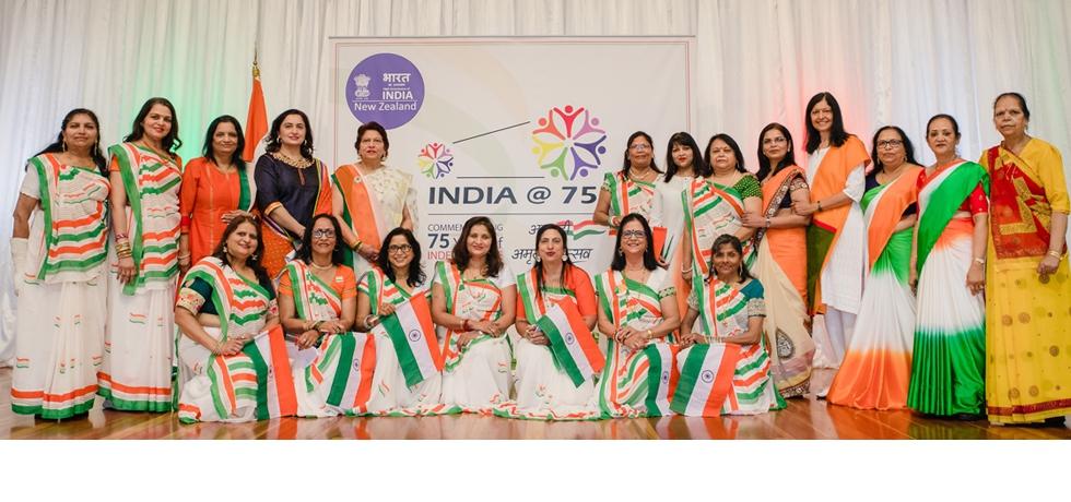 Members of Indian Diaspora - celebrated 75 years of India's Independence (Azadi Ka Amrit Mahotsav) on 15th August 2021 at Bharat Bhavan, Wellington.